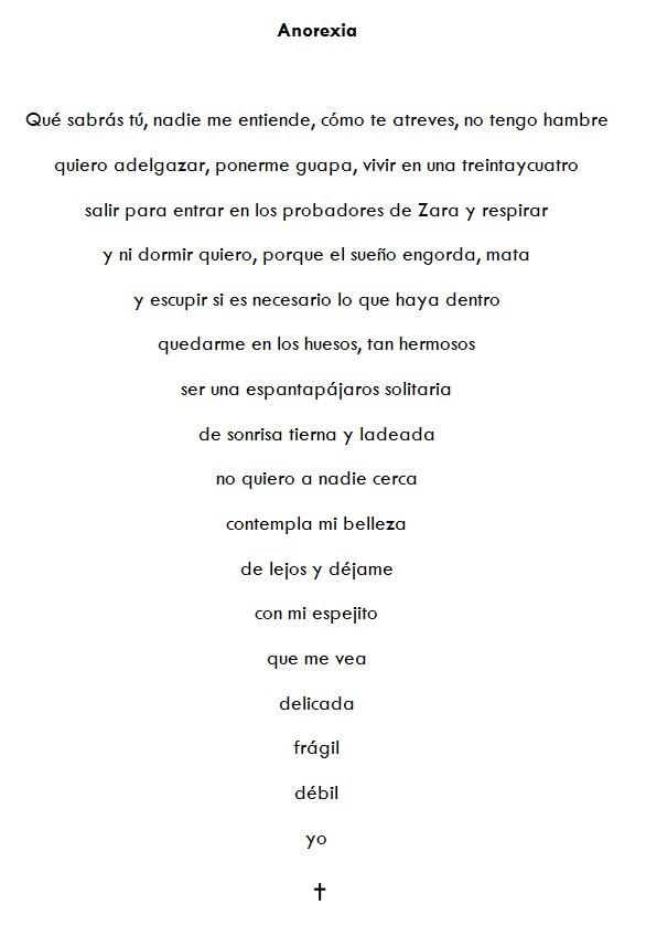 Poema visual Anorexia